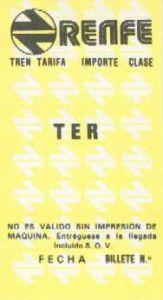 Billete para automotor diesel TER. Segunda serie.