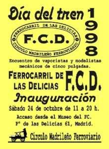 Cartel Día del Tren 1998.