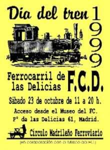 Cartel Día del Tren 1999.