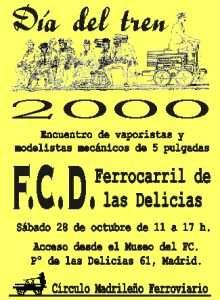 Cartel Día del Tren 2000.