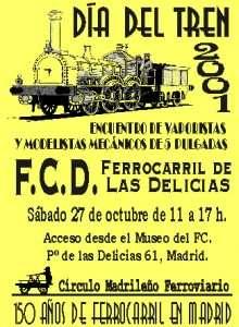 Cartel Día del Tren 2001.