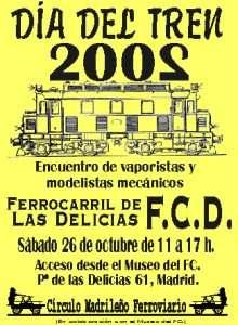 Cartel Día del Tren 2002.