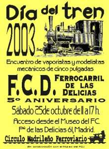 Cartel Día del Tren 2003.