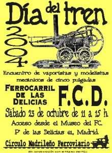 Cartel Día del Tren 2004.