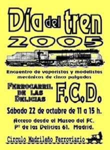 Cartel Día del Tren 2005.