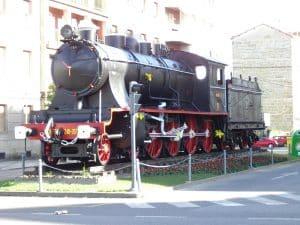 Locomotora en Ourense