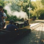 Una locomotora de vapor