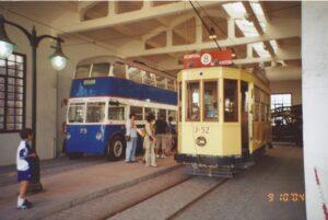 Trolebús y tranvía