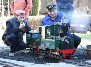 """Locomotora FCD 040-001 """"Carmela"""", en el XI Día del Tren (octubre'08)"""