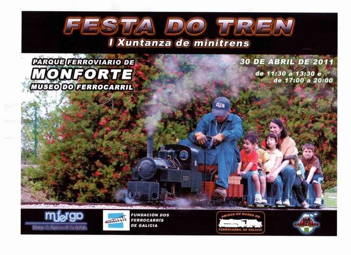 Cartel Festa do Tren 2011 (Monforte de Lemos, Lugo)