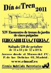 Cartel Día del Tren 2011.
