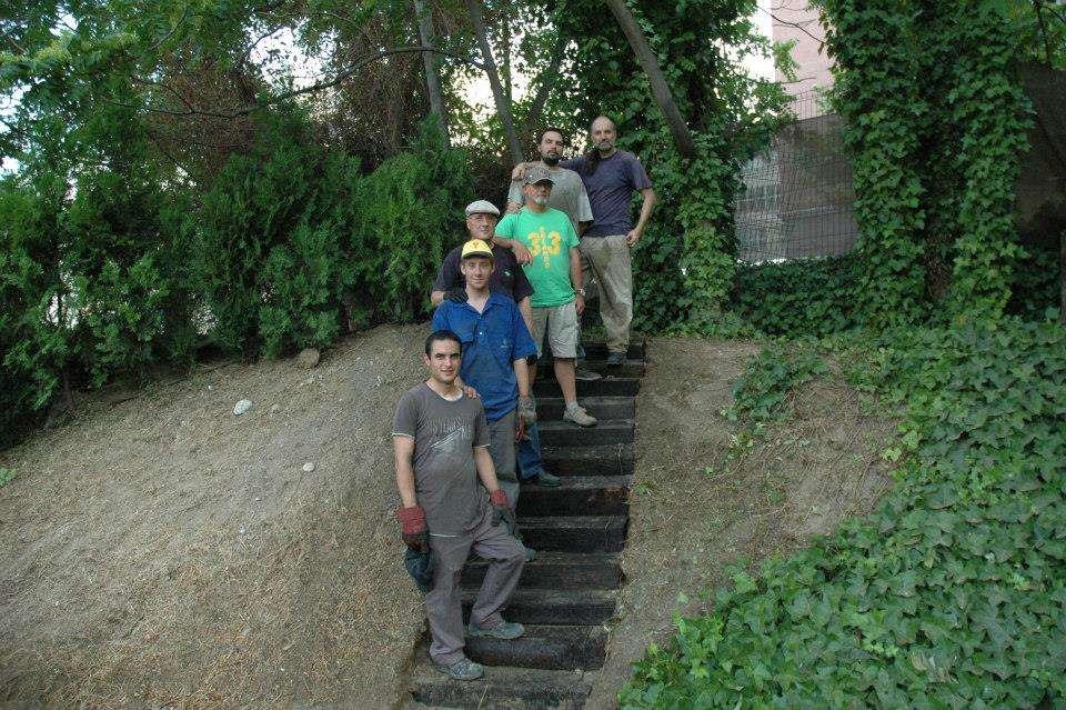 Escalera del Mirador de Montecimaf