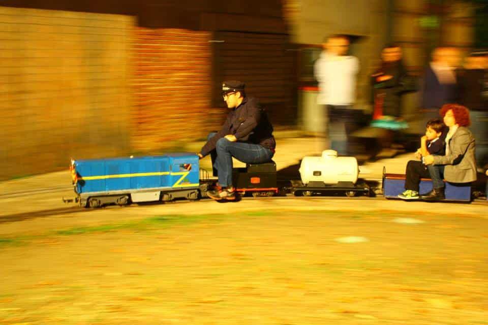 "La ""Aranguren"" durante la noche del Día del Tren"