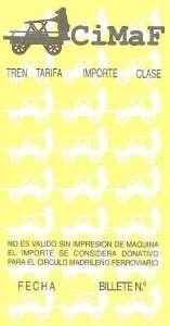 Billete Hugin corto, 1ª serie amarilla