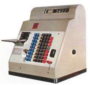 Máquina Hugin empleada en Renfe