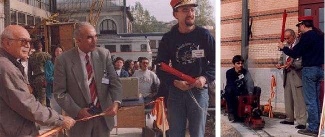 Acto inaugural del Ferrocarril de las Delicias en 1998.