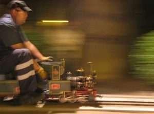 """Conduciendo la """"Alicia"""" en la Noche de los Museos de 2008"""