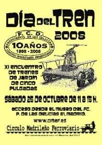 Cartel XI Día del Tren - 2008