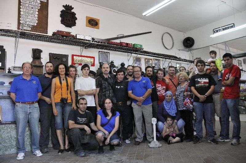 Foto de grupo en el Museo de Aranda