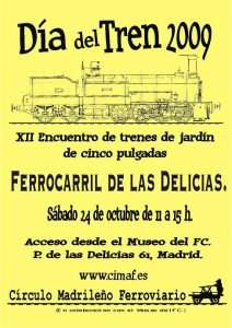 Cartel Día del Tren 2009