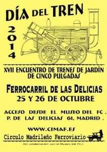 Cartel Día del Tren 2014.
