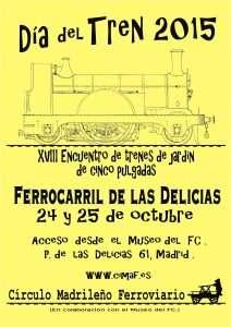 Cartel Día del Tren 2015.