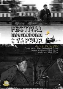 Cartel XXXI Festival International de la Vapeur.