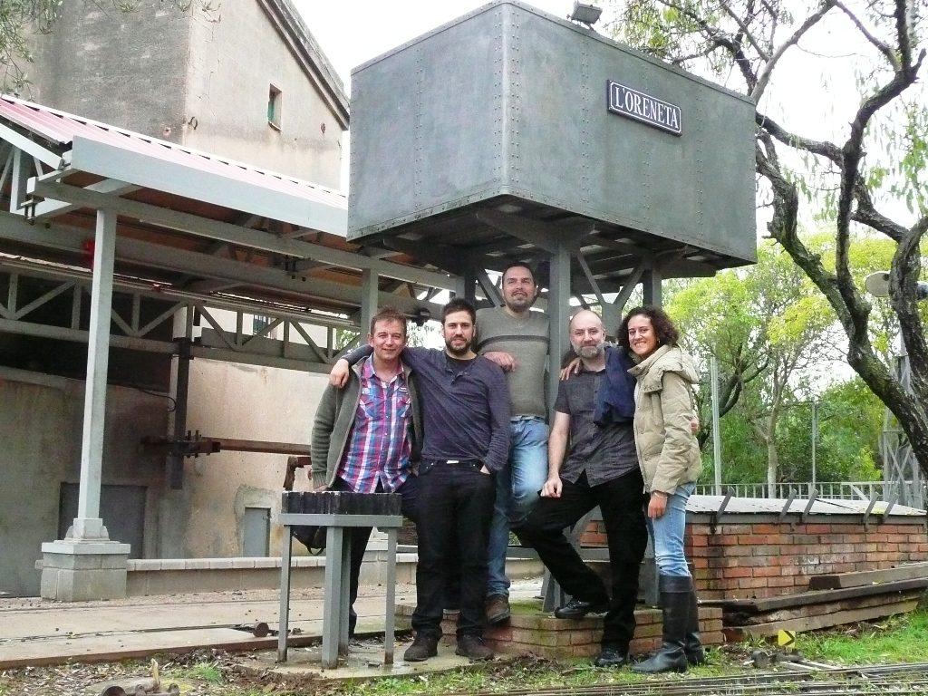 El grupo del CiMaF y Villalba en la Oreneta.