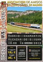 Cartel Tren de las Gachas 2013.