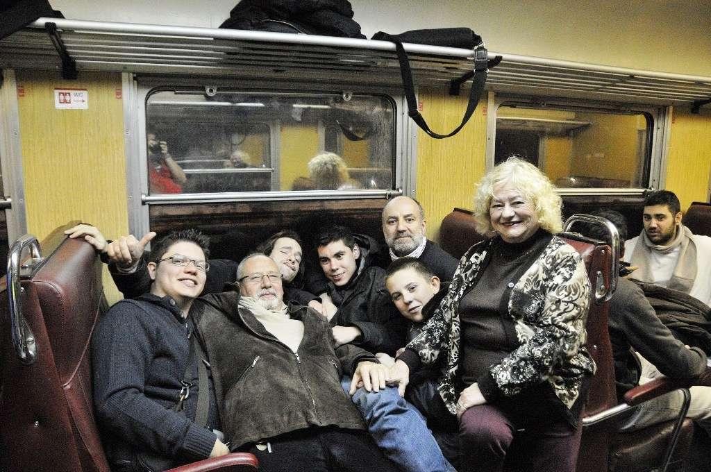 El grupo en la 440, ya camino de Madrid.