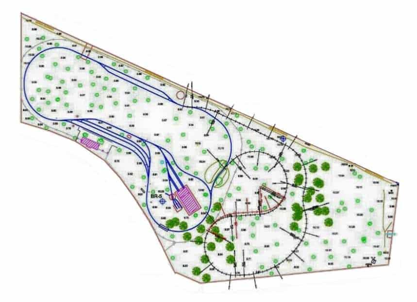 Plano esquemático del FC del Alamillo