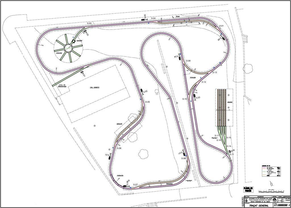 Plano del Circuit Ferroviari de Cal Gavatx