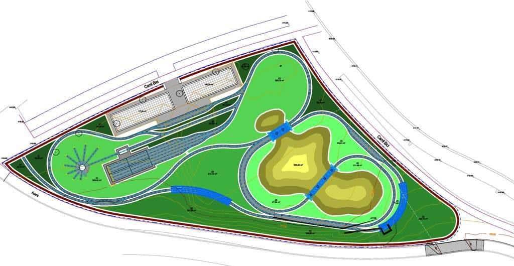 Plano Parque del Tren de Trinitarios