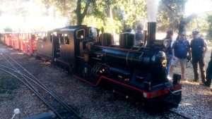 """Locomotora """"Big Viñas"""", del Tren de Palau"""