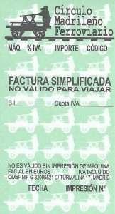 Factura simplificada del CiMaF.