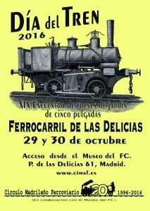 Cartel del Día del Tren 2016