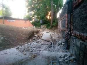 Tras las demoliciones