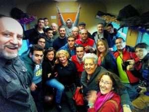 Selfie del CiMaF en el Tren de los Reyes Magos