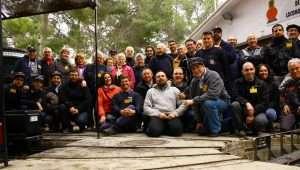 Foto de todos los participantes de la vaporada de Riba-Roja