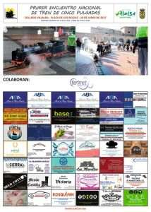 """Cartel del I Encuentro Nacional de Tren de 5"""" de los AATJCV en Collado Villalba"""