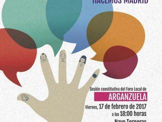 Cartel de presentación de los Foros Locales de Madrid