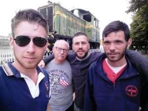 Locomotora 303 en La Bañeza (León)