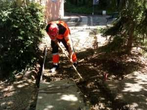 Excavación para la nueva losa de Arboleda