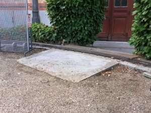 Rampa de acceso al FCD, desde la zona de público