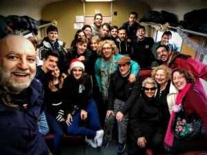 Selfie del grupo en el Tren de los Reyes Magos