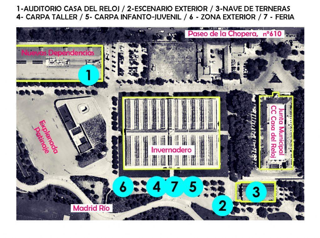 Plano de localizaciones del ArganzuelaFest!