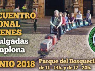"""Cartel del III Encuentro de Trenes de 5"""" en Pamplona"""