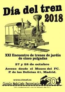 Cartel Día del Tren 2018