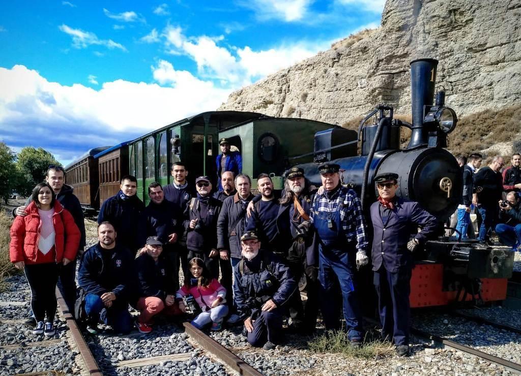 El grupo en el Tren de Arganda