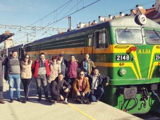 Foto de grupo del viaje al Escorial en el Tren de Felipe II